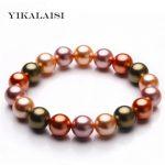 YIKALAISI 2017 Charm <b>Bracelet</b> Pearl Jewelry Green Pearl Shellfish <b>Bracelet</b> & Bangles For Women for girls wedding gifts