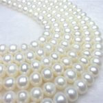 Fashion 9-10MM White Abacus Oblate Freshwater Shell Pearls Loose Beads <b>Jewelry</b> Semi-finished Necklace Ornaments Wholesale <b>Supply</b>