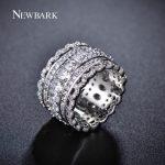 NEWBARK Luxury Wide Circle Women Rings With Oval AAA Cubic Zirconia And <b>Fashion</b> Small Round CZ Ring <b>Jewelry</b>