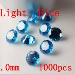 MRHUANG <b>Jewelry</b> <b>Supplies</b> Light Blue AAA Cubic Zirconia 2.0/2.5/3.0mm Round Zirconia DIY <b>Jewelry</b> Findings <b>Supplies</b>