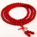 Tibetan <b>handmade</b> <b>jewelry</b> Rare 108 Tibetan Buddhist Red Coral 10mm Prayer Beads Necklace silver