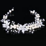 Dower me Handmade Beaded Flower Wedding Headband Hair Vine Gold Silver Bridal Hair <b>Jewelry</b> Accessories Women Tiara