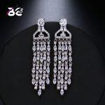 Be 8 New Fashion Romantic Women Statement Earring Tassel Long Drop Earring Vintage <b>Wedding</b> <b>Jewelry</b> for Women E526