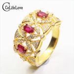 Classic natural ruby <b>silver</b> ring 3 pcs 3 mm * 5 mm blood red ruby ring solid 925 <b>silver</b> ruby ring luxurious ruby <b>jewelry</b>