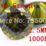 MRHUANG <b>Jewelry</b> <b>Supplies</b> AAA Grade CZ Cubic Zirconia Olive Green Round Zircon 2.5MM DIY <b>Jewelry</b> Findings <b>Supplies</b> Free Shipping