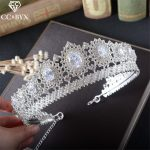 CC <b>Jewelry</b> crown and tiara queen luxury <b>wedding</b> hair accessories for women crowns for beauty hair brides jewellery gift HG771