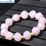 JoursNeige Natural Pink Grape Chalcedony Crystal Pumpkin Beads Bracelet for Women Girl Single lap Fashion <b>Jewelry</b> <b>Accessories</b>