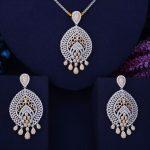 GODKI 65mm Hollow Tassel Drop Luxury 2 Tone Women Wedding Naija Bridal Cubic Zirconia <b>Necklace</b> Earring Dubai Dress <b>Jewelry</b> Set