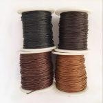 4 Rolls 1mm Waxed Cotton Cord Thread DIY <b>Jewelry</b> Making Beads <b>Supplies</b> 1# Knitting Cord String Beading Thread