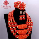 2017 Trendy Orange African <b>Jewelry</b> Sets Nature Coral African Beads Nigerian Gold Balls Dubai Wedding <b>Jewelry</b> Sets Bridal <b>Jewelry</b>