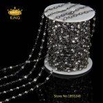 3mm,4mm,6mm Faceted CZ Beads <b>Fashion</b> Chains <b>Jewelry</b> Bulk,Clear Zircon Rosary Chain Gun Metal Plated Loop Making Bracelet HX086