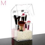 M Acrylic Cosmetics Box <b>Fashion</b> Clear Acrylic Makeup brush Organizer Box Cosmetic Holder Makeup Storage Case C138-10