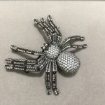 Unisex Women and Man brooch <b>jewelry</b> Insect Spider brooch pins & pendant double use 925 sterling <b>silver</b> with cubic zircon fashion
