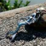 100% Genuine Larimar Mermaid Pendant 925 Sterling <b>Silver</b> Charm Pendant Bohemian Style Mermaid Crystal Stone <b>Jewelry</b> Gift for her