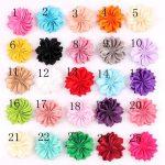 150pcs bulk Satin Polyester Ribbon Flowers Kids Children Multi Angle <b>Handmade</b> Flowers Baby Headband Flowers Mini Silk Satin
