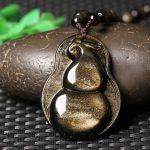 A counter genuine wholesale <b>supply</b> of natural gold pendant and a gourd Yaoshi evil fortune Necklace <b>Jewelry</b>