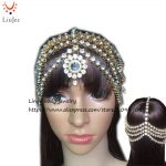 Full Diamante Kundan Matha Patti <b>Wedding</b> Bridal Goddess Boho Head Chain Hair <b>Jewelry</b> Head Piece Bollywood <b>Wedding</b> HC-331