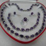 Women's Wedding Beautiful women's <b>jewelry</b> set gem stone Necklace Bracelet Ring Earring+box 5.23 silver <b>jewelry</b> silver-<b>jewelry</b>