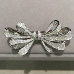 pave stone 925 <b>sterling</b> <b>silver</b> with cubic zircon bowknot brooch pins fashion women <b>jewelry</b> free shipping