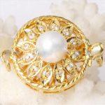 free P&P Diy quality 925 <b>silver</b> diamond sunflower pearl necklace <b>bracelet</b> clasp single breasted gold white