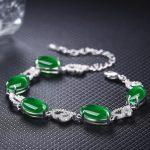 Pure agate <b>bracelets</b> 925 sterling <b>silver</b> jade AAA zircon luster <b>bracelets</b> fashion charms design women <b>bracelets</b> fine jewelry