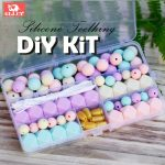 DIY Silicone Teething Kit Silicone Beads <b>Supplies</b> Make Your Own Baby Chew <b>Jewelry</b> Teething Necklace Lilac/Candy/Mint