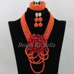 <b>Handmade</b> Coral Nigerian Wedding Beads Necklace Indian Bridal <b>Jewelry</b> Sets African Coral Beads <b>Jewelry</b> Set Free Shipping ABK005
