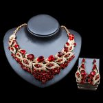 LAN PALACE nigerian beads for women <b>jewelry</b> set gold color glass necklace and earrings for <b>wedding</b> six colors free shipping