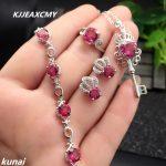 KJJEAXCMY Fine jewelry, Multicolored jewelry 925 <b>silver</b> inlay natural Topaz powder set simple wholesale female models
