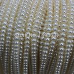 Natural Freshwater Pearl Bead Strands,Wholesale 3.5-4.5mm Near Round Ivory White AAA Real Pearl Beads <b>Supply</b> <b>Jewelry</b>