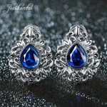JIASHUNTAI Retro 100% 925 Sterling <b>Silver</b> Clip Earrings For Women Natural Precious Stones Vintage Thai <b>Silver</b> Earring <b>Jewelry</b>
