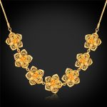 Blossom Chokers Necklaces For Women <b>Accessories</b> Gold Color Fashion <b>Jewelry</b> Colar Gold Necklace N1112