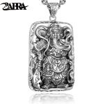 ZABRA 925 <b>Sterling</b> <b>Silver</b> Pendants For Men Guan Yu Hero Good Pray Necklace Guys Buddha Pendant Vintage Chinese Culture <b>Jewelry</b>