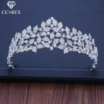 CC tiaras and crowns hairbands high quality princess engagement <b>wedding</b> hair accessories for bridal <b>jewelry</b> luxury leaf XY215