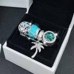 4pcs Fashion S925 Silver Coconut Trees Cz Dangle Charms Beads <b>Jewelry</b> Set Fit DIY Bracelet Necklaces <b>Jewelry</b> <b>Making</b> Woman Gift