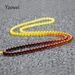 Yoowei Rainbow Amber Necklace Long Sweater Chain <b>Supply</b> Certificate Authenticity Genuine Baltic Amber Stone <b>Jewelry</b> Chain Collar