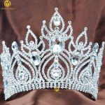 Fantastic 6″ Large Contoured Tiara Brides Crown Austrian Rhinestone Beauty Contest Hair <b>Jewelry</b> Wedding Parade Pageant Prom