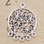 10pcs Charms <b>native</b> <b>american</b> catcher connector 35*26mm Antique Silver Plated Pendants Making DIY Handmade Tibetan Silver <b>Jewelry</b>