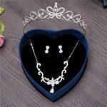 Princess 3PCS/Set Cubic Zirconia <b>Jewelry</b> Sets Zircon Bridal Wedding Tiara <b>Handmade</b> Earring Clip Necklace Prom Bijoux Girs Gifts