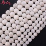 4,6,8,10,12mm Smooth Round Bead White Moonstone Natural Stone Beads For DIY Necklace Bracelets <b>Jewelry</b> <b>Making</b> 15″ Free Shipping