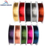 10Roll Craft Copper <b>Jewelry</b> Beading Wire Mixed Color Enameled Copper Metal Wire Fit DIY Craft Beading Wire <b>Jewelry</b> <b>Making</b> Cord