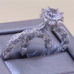 choucong Brand Luxury <b>Jewelry</b> 925 Sterling Silver Round Cut White 5A Cubiz Zirconia CZ <b>Wedding</b> Women Couple Bridal Ring Set Gift