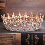Blue Crystal <b>Wedding</b> Bride Hair Accessories Crown Silver Color Chic Royal Regal Sparkly Rhinestones Tiaras Crown Pageant <b>Jewelry</b>