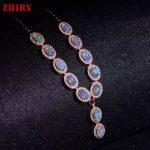 Natural Opal Necklace Pendant Fire Gem Stone 925 <b>Sterling</b> <b>Silver</b> Women <b>Jewelry</b> Noble Wedding Wear Lots Color