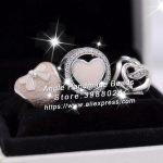 3pcs S925 Sterling Silver Valentine's Day Love Enamel Charms <b>Jewelry</b> Set Fit DIY Bracelets Necklaces <b>Jewelry</b> <b>Making</b> Woman Gift