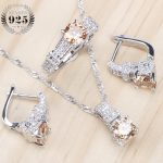 Bridal <b>Jewelry</b> Sets Zirconia Stone Earrings For Women Wedding 925 Sterling Silver <b>Jewelry</b> With Ring Pendant Necklace Set