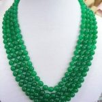 Beautiful 8mm Green Chalcedony Necklace Rope Chain Beads Fashion <b>Jewelry</b> <b>Making</b> Design Natural Stone Ornaments (Minimum Order1)