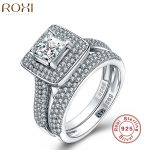 ROXI 925 Sterling Silver <b>Jewelry</b> Ring Fashion <b>Wedding</b> Engagement Ring Sets For Women Zircon Romantic <b>Jewelry</b> Bagues Femme 2017