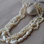 Charming Real Pearl <b>Jewelry</b>,4Rows White Color 6-12mm 18inches Baroque Freshwater Pearl Necklace,<b>Handmade</b> <b>Jewelry</b>