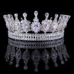 Luxury Zircons Elegant Marquise Cut Cubic Zirconia Flower Bridal <b>Wedding</b> Queen Crown Tiara Hair <b>Jewelry</b> For Brides